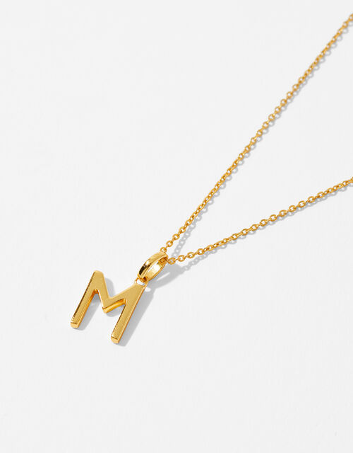 Gold Vermeil Initial Pendant Necklace - M, , large