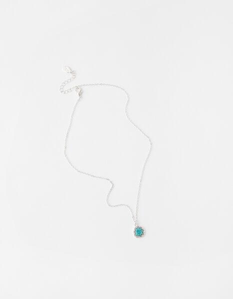 Sparkle Turquoise Pendant Necklace, , large