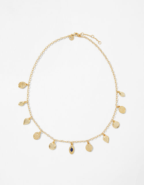 Gold-Plated Charm Necklace, , large