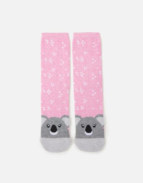 Kayla Koala Fluffy Face Socks , , large