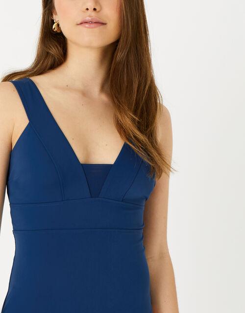 Lexi Plunge Shaping Swimsuit, Blue (NAVY), large