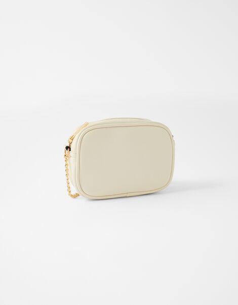 Stripe Cross-Body Camera Bag Cream, Cream (CREAM), large