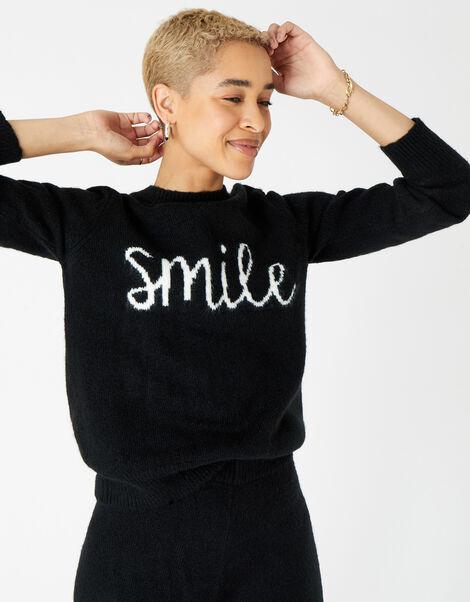 Lounge Smile Jumper Black, Black (BLACK), large
