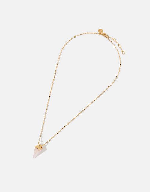 Healing Stones Gold-Plated Necklace - Rose Quartz, , large