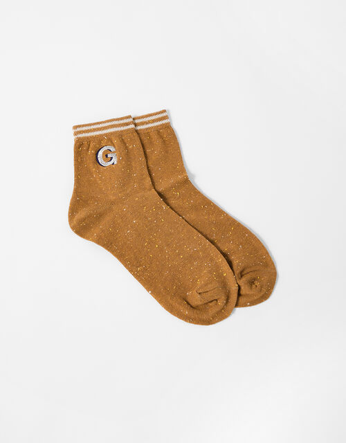Initial Ankle Socks - G, , large