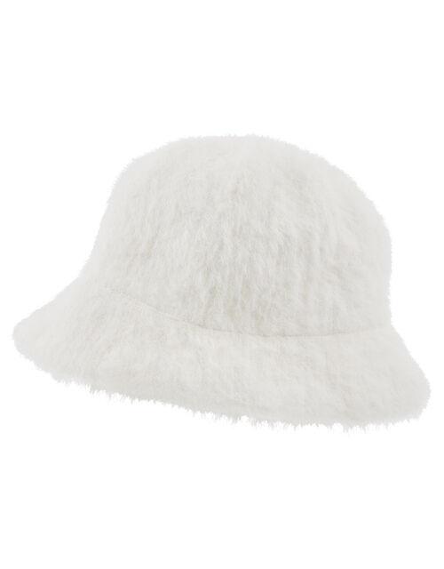 Fluffy Bucket Hat, Cream (CREAM), large