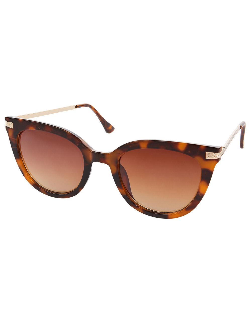 Caroline Cat-Eye Tortoiseshell Sunglasses, , large