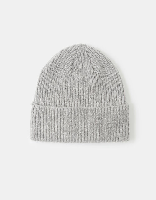 Knit Beanie Hat, Grey (LIGHT GREY), large