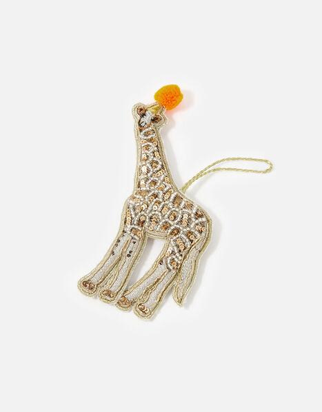 Embellished Giraffe Hanging Decoration , , large