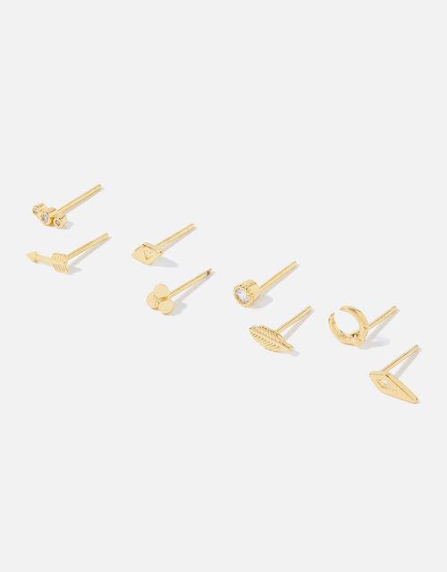 Gold-Plated Talisman Stud Set , , large