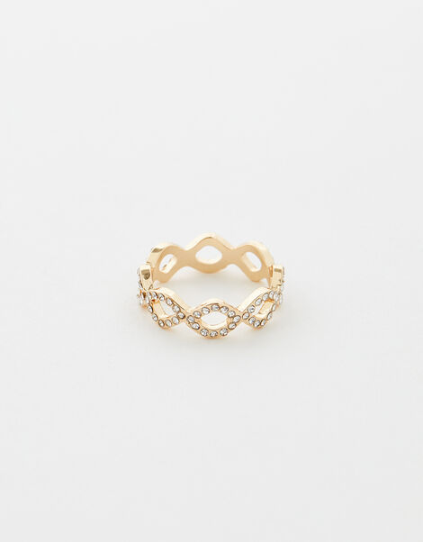 Sparkle Pave Ring White, White (CRYSTAL), large