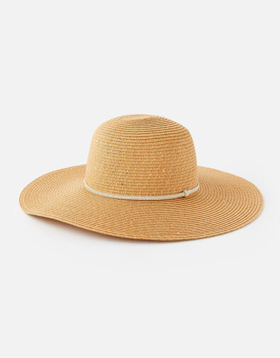 Santorini Sequin Floppy hat  Natural, Natural (NATURAL), large