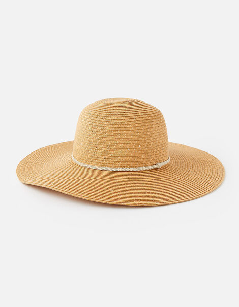 Santorini Sequin Floppy hat  Natural, Natural (NATURAL), large