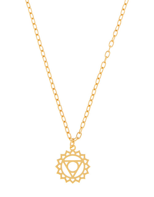 Gold-Plated Solar Plexus Chakra Necklace, , large