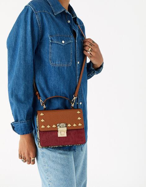 Bee Studded Handheld Bag Multi, Multi (BRIGHTS-MULTI), large