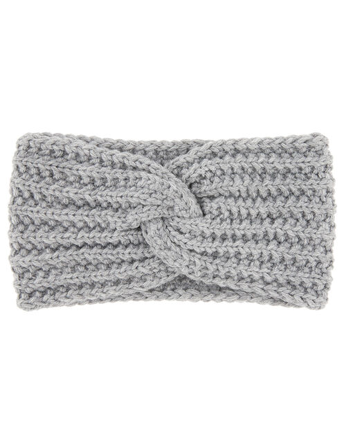 Chunky Knit Bando, Grey (LIGHT GREY), large