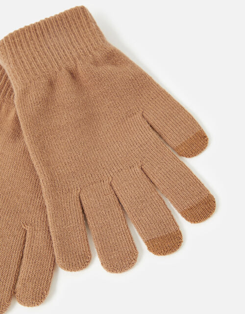 Stretch Touchscreen Gloves, Camel (CAMEL), large