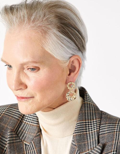 Doorknocker Earrings with Recycled Metal, , large