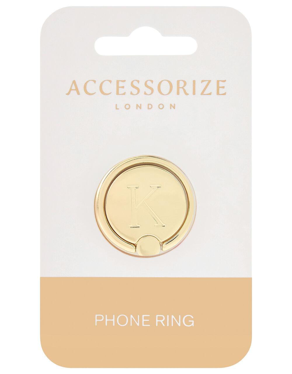 Metallic Initial Phone Ring - K, , large