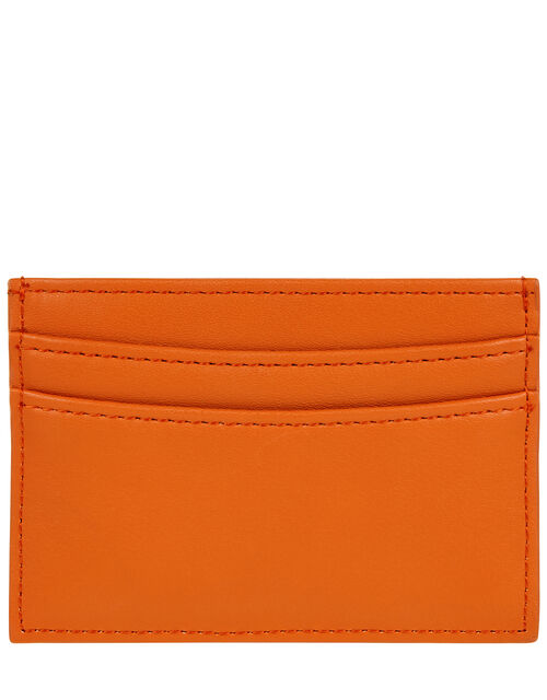Embroidered Rainbow Cardholder, Orange (CORAL), large