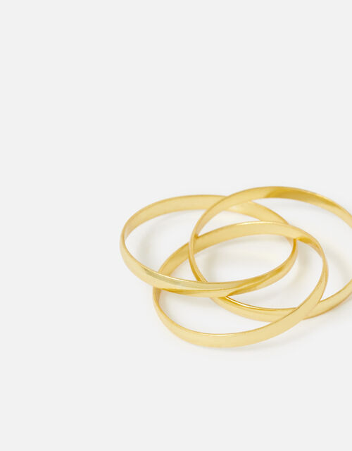 Gold-Plated Sterling Silver Russian Wedding Band, Gold (GOLD), large