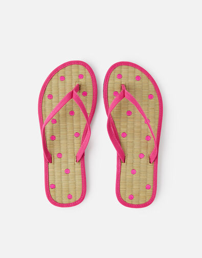 Spot Seagrass Flip Flops  Pink, Pink (PINK), large