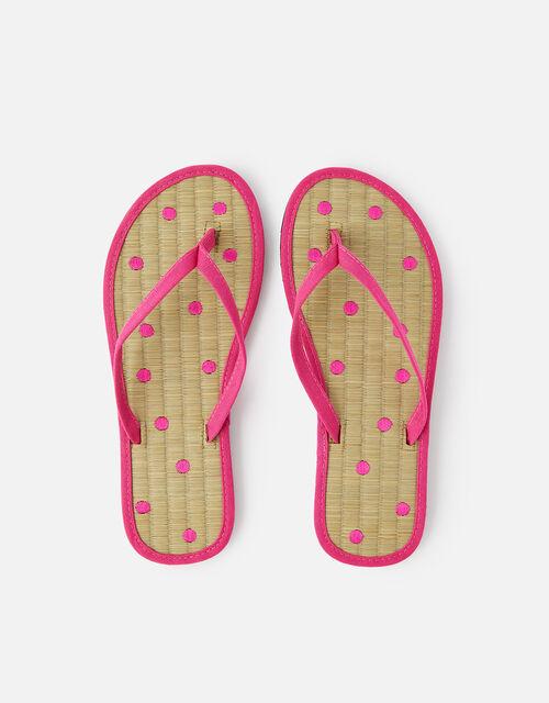 Spot Seagrass Flip Flops , Pink (PINK), large