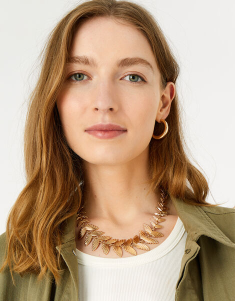 Country Retreat Leaf Collar Necklace , , large