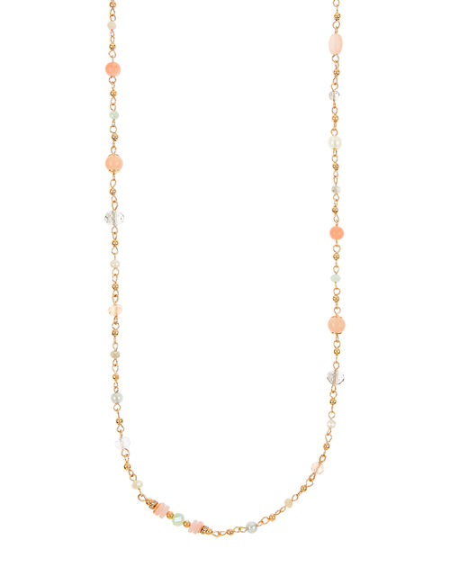Multi-Bead Rope Necklace, , large