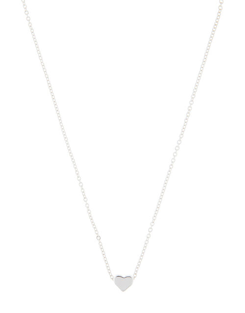 Solid Heart Pendant Necklace, , large