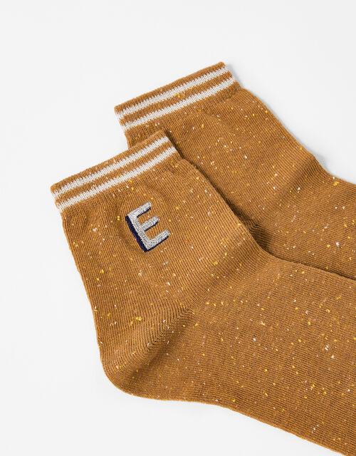 Initial Ankle Socks - E, , large