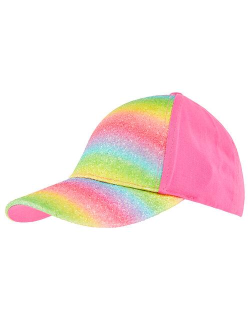 Rainbow Cotton Baseball Cap, Pink (PINK), large