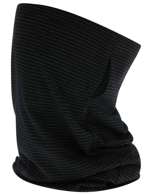 Anti-Bacterial Snood Face Covering, Black (BLACK), large