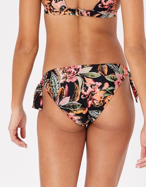 Oriental Print Tie Bikini Briefs Multi, Multi (DARKS-MULTI), large