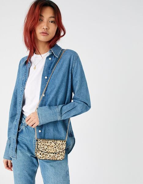 Leopard Mini Cross-Body Bag, , large
