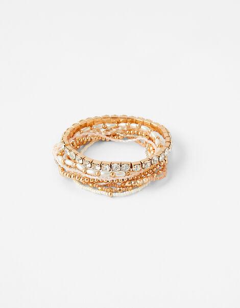 Metallic Stretch Bracelet Set, , large