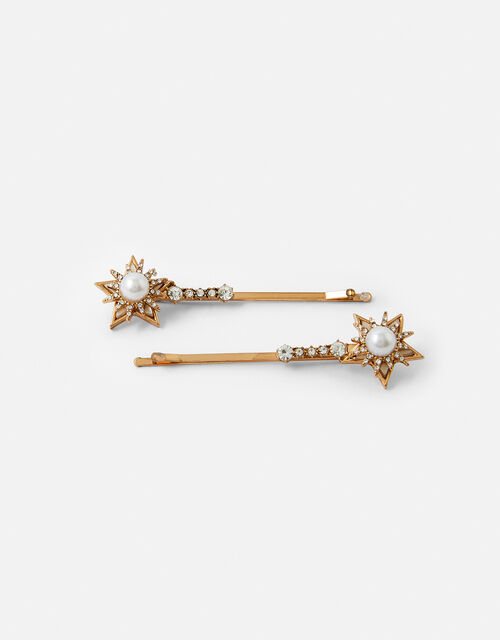 Party Star Embellished Hair Grips, , large