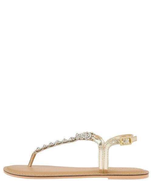 Santorini Crystal Sandals, Gold (GOLD), large