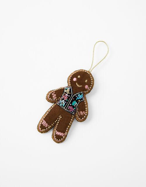 Embellished Gingerbread Hanging Decoration, , large
