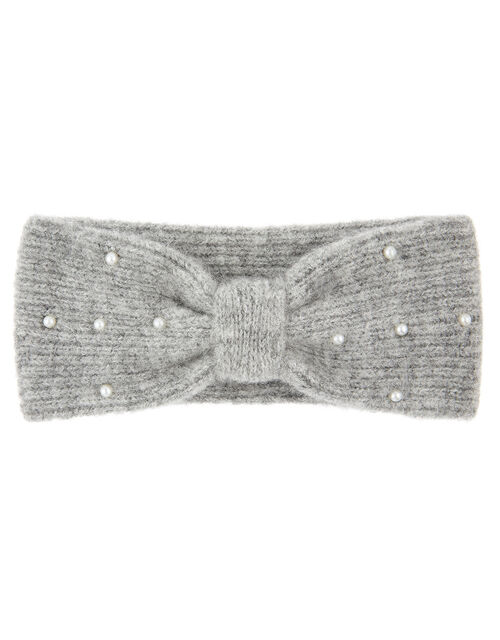 Pearly Knit Bando Headband, , large