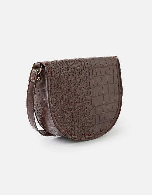 Sophia Croc Cross-Body Bag, , large