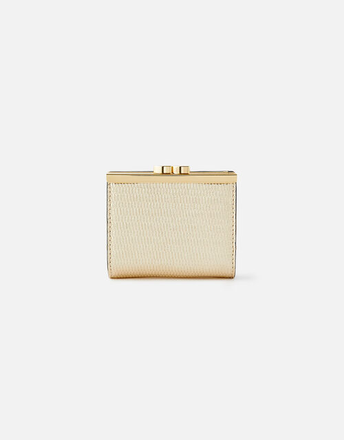 Bella Clip Frame Wallet , Gold (GOLD), large