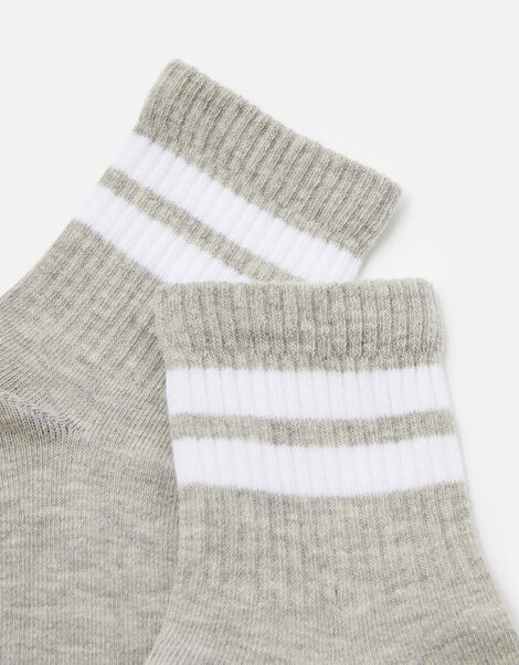 Varsity Sporty Stripe Ankle Socks , , large