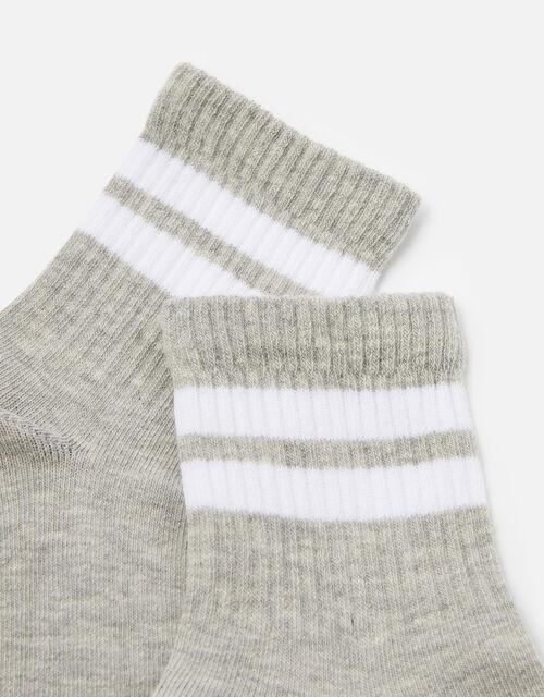 Varsity Sporty Stripe Ankle Socks , , large