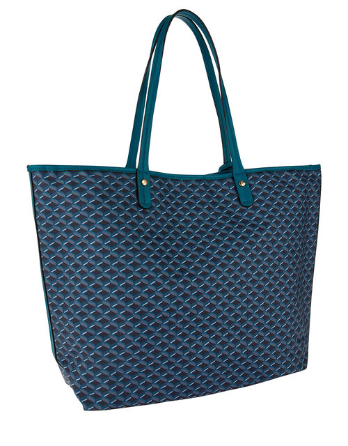 Geo Print Tote Bag, , large