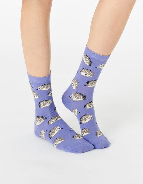 Hedgehog Socks  Purple, Purple (LILAC), large