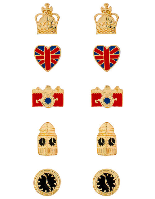 5x London Stud Earrings Set, , large