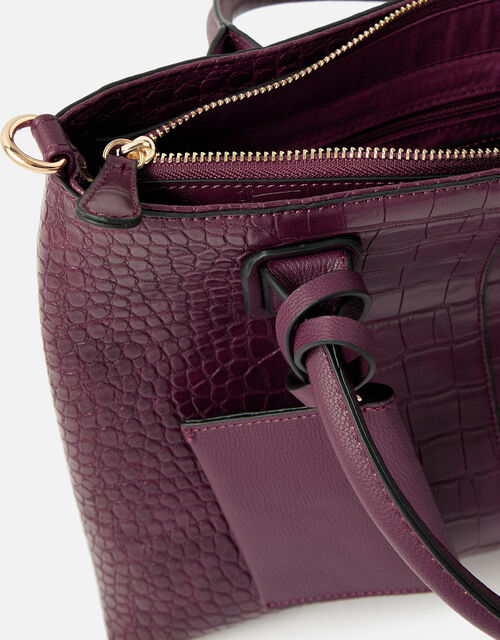 Caroline Handheld Bag, Red (BURGUNDY), large