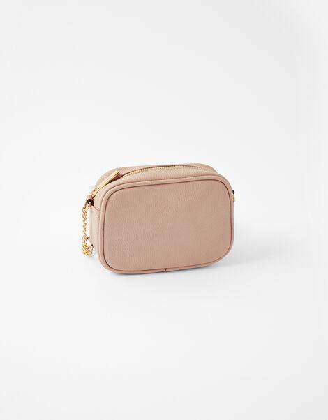 Stripe Cross-Body Camera Bag Pink, Pink (PINK), large