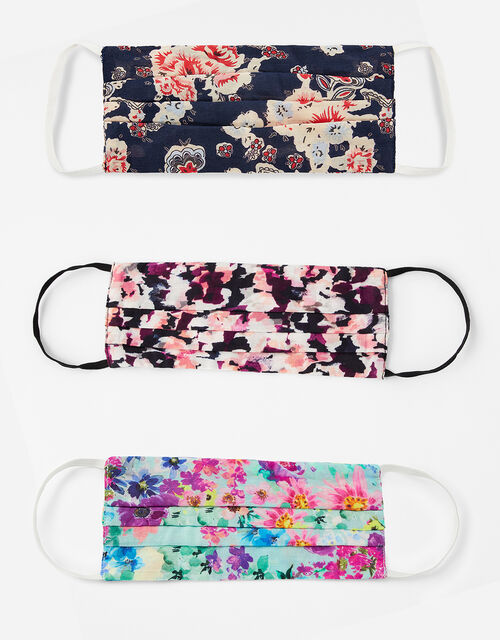 Floral Face Covering Multipack, , large